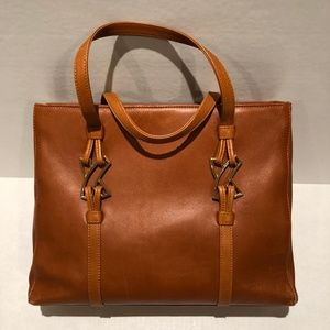 Paloma Picasso Brown Leather Tote
